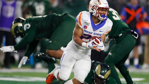 <p>               Boise State running back George Holani runs past Colorado State defenders after pulling in a pass in the second half of an NCAA college football game Friday, Nov. 29, 2019, in Fort Collins, Colo. Boise State won 31-24. (AP Photo/David Zalubowski)             </p>