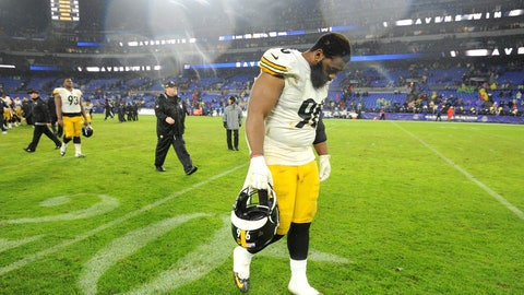 <p>               Pittsburgh Steelers defensive tackle Isaiah Buggs leaves the field after an NFL football game against the Baltimore Ravens, Sunday, Dec. 29, 2019, in Baltimore. The Ravens won 28-10. (AP Photo/Gail Burton)             </p>