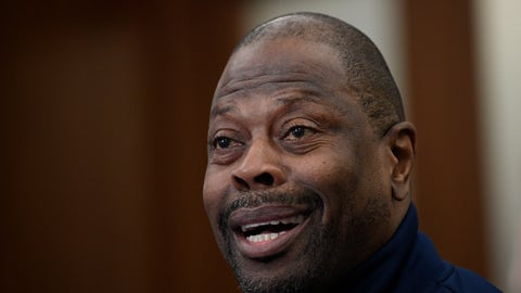 """<p>               Georgetown head coach Patrick Ewing speaks during an NCAA college basketball media availability, Wednesday, Dec. 11, 2019, in Washington.  It was hard not to do a double-take when Georgetown basketball coach Patrick Ewing replied to a question Wednesday about whether his full roster will be available for the team's next game, against Syracuse, by saying, """"As of now, yes."""" That'll be the Hoyas' first home contest since legal matters involving players came to light.(AP Photo/Nick Wass)             </p>"""