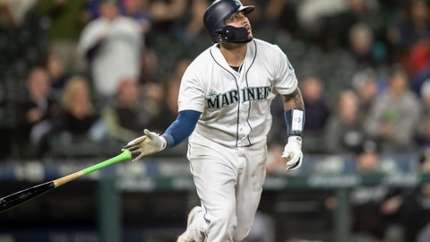 <p>               FILE - In this Sept. 14, 2019, file photo, Seattle Mariners' Omar Narvaez tosses his bat after hitting a solo home run off Chicago White Sox relief pitcher Alex Colome during the 10th inning of a baseball game, in Seattle. The Milwaukee Brewers acquired catcher Omar Narváez from the Seattle Mariners on Thursday, Dec. 5, 2019, for minor league pitcher Adam Hill and a compensation round pick in next June's amateur draft. (AP Photo/Stephen Brashear, File)             </p>