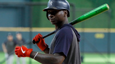 <p>               FILE - In this Saturday, Oct. 19, 2019, file photo, New York Yankees shortstop Didi Gregorius prepares to take batting practice before Game 6 of baseball's American League Championship Series against the Houston Astros in Houston. Gregorius is joining manager Joe Girardi in Philadelphia, agreeing with the Phillies on a $14 million, one-year contract, a person familiar with the deal told The Associated Press, late Tuesday, Dec. 10, 2019. (AP Photo/Matt Slocum, File)             </p>