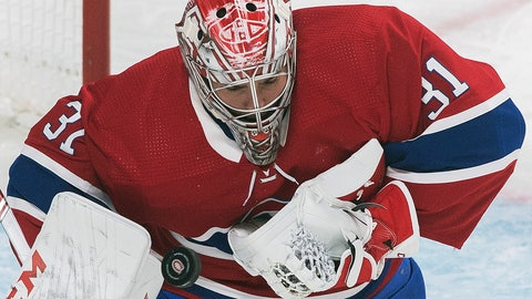 <p>               Montreal Canadiens goaltender Carey Price makes a save during the second period of an NHL hockey game against the Detroit Red Wings, Saturday, Dec. 14, 2019, in Montreal. (Graham Hughes/The Canadian Press via AP)             </p>