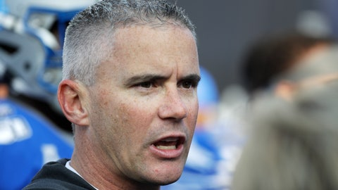 <p>               Memphis head coach Mike Norvell watches as players warm up before the start of an NCAA college football game against Cincinnati for the American Athletic Conference championship Saturday, Dec. 7, 2019, in Memphis, Tenn. (AP Photo/Mark Humphrey)             </p>