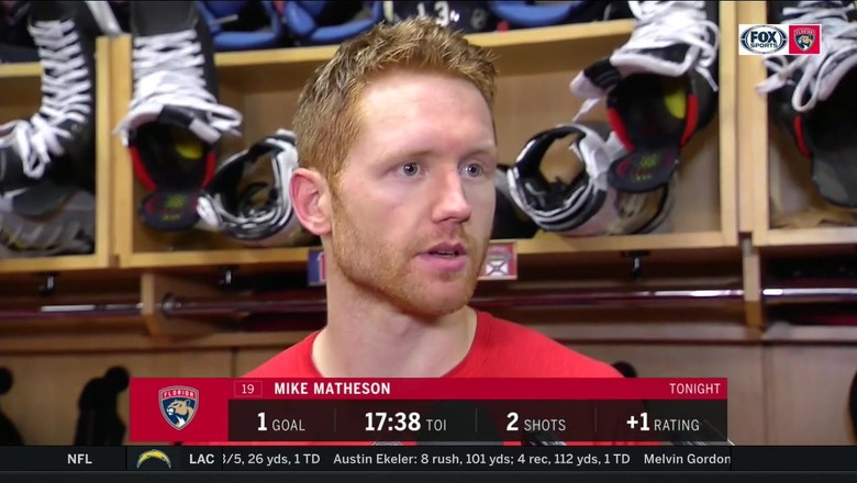 Panthers D Mike Matheson: 'I really think we're coming together as a team'