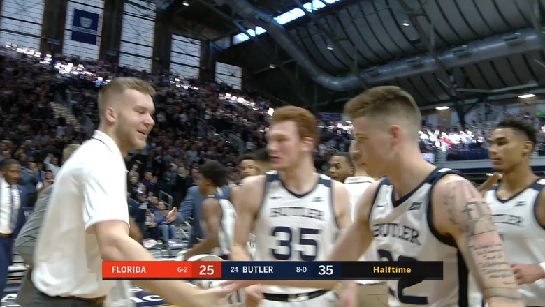 No. 24 Butler beats the first-half buzzer to take double-digit lead over Florida