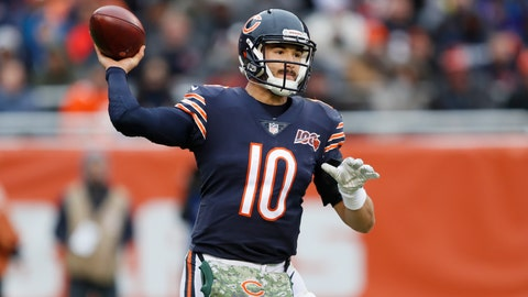 <p>               Chicago Bears quarterback Mitchell Trubisky throws against the Detroit Lions during the second half of an NFL football game in Chicago, Sunday, Nov. 10, 2019. (AP Photo/Charlie Neibergall)             </p>
