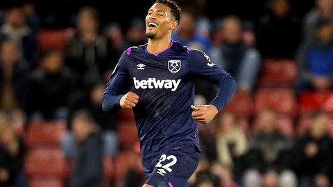 <p>               West Ham United's Sebastien Haller celebrates scoring his sides first goal against Southampton during their English Premier League soccer match at St Mary's Stadium in Southampton, England, Saturday Dec. 14, 2019. (Steven Paston/PA via AP)             </p>