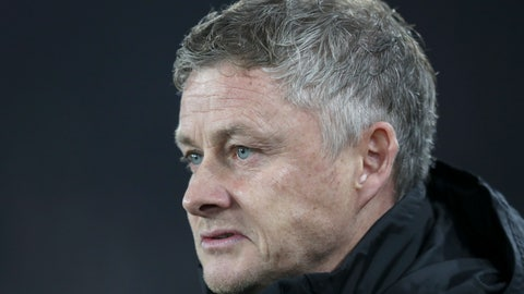 <p>               Manchester United's manager Ole Gunnar Solskjaer looks on before the English Premier League soccer match between Sheffield United and Manchester United at Bramall Lane Stadium in Sheffield, England, Sunday, Nov. 24, 2019. (AP Photo/Jon Super)             </p>