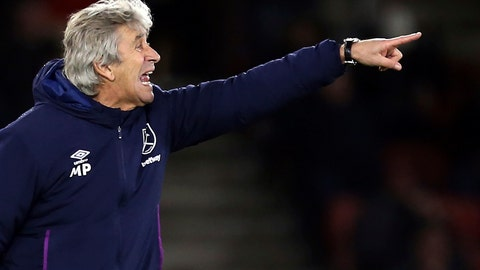 <p>               West Ham United manager Manuel Pellegrini gestures on the touchline during the game against Southampton, during their English Premier League soccer match at St Mary's Stadium in Southampton, England, Saturday Dec. 14, 2019. (Steven Paston/PA via AP)             </p>