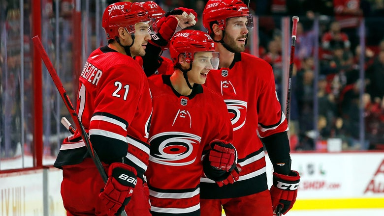 Aho has 5 points, 3 goals to lift Hurricanes over Wild 6-2