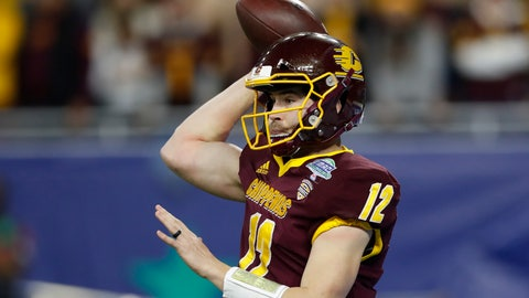 <p>               FILE - In this Dec. 7, 2019, file photo, Central Michigan quarterback Quinten Dormady throws during the first half of the Mid-American Conference championship NCAA college football game against Miami of Ohio in Detroit. Central Michigan and San Diego State meet Saturday, Dec. 21, 2019, in the New Mexico Bowl in Albuquerque, N.M. in a game expected to be a defensive battle. (AP Photo/Carlos Osorio,File)             </p>