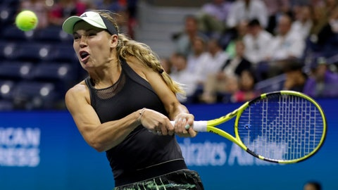 <p>               FILE - In this Thursday, Aug. 29, 2019 file photo, Caroline Wozniacki, of Denmark, returns a shot to Danielle Collins during the second round of the U.S. Open tennis tournament, in New York. Wozniacki has announced on Friday, Dec. 6, 2019 she will retire after the Australian Open. (AP Photo/Adam Hunger, file)             </p>
