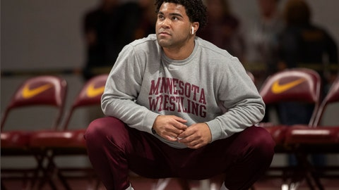 <p>               FILE - In this Jan. 6, 2019, file photo, Gable Steveson warms up before NCAA Big Ten wrestling tournament in Minneapolis, Minn. A prosecutor says two University of Minnesota wrestlers who were arrested in an alleged sexual assault will not face criminal charges. Gable Steveson and Dylan Martinez were arrested in June on suspicion of criminal sexual conduct after someone reported a rape. Hennepin County Attorney Mike Freeman said Friday, Dec. 20, 2019, that there is inadequate evidence to charge the men. (Jerry Holt/Star Tribune via AP, File)             </p>