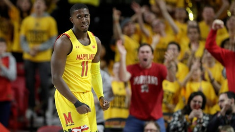 <p>               Maryland guard Darryl Morsell reacts during the second half of an NCAA college basketball game against Maryland, Saturday, Dec. 7, 2019, in College Park, Md. Maryland won 59-58. (AP Photo/Julio Cortez)             </p>