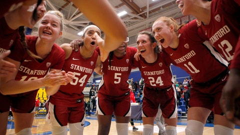 <p>               Stanford celebrates winning the championship over Mississippi State 67-62 at the Greater Victoria Invitational championship NCAA college basketball game in Victoria, British Columbia, Saturday, Nov. 30, 2019. (Chad Hipolito/The Canadian Press via AP)             </p>