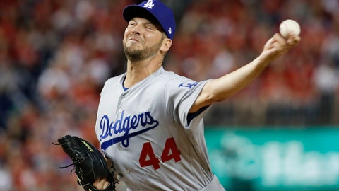 "<p>               FILE - In this Oct. 7, 2019, file photo, Los Angeles Dodgers starting pitcher Rich Hill throws against the Washington Nationals during the first inning in Game 4 of a baseball National League Division Series in Washington. Hill has won the Tony Conigliaro Award. The honor goes to a major leaguer ""who has overcome adversity through the attributes of spirit, determination and courage that were the trademarks of Tony C."" (AP Photo/Alex Brandon, File)             </p>"