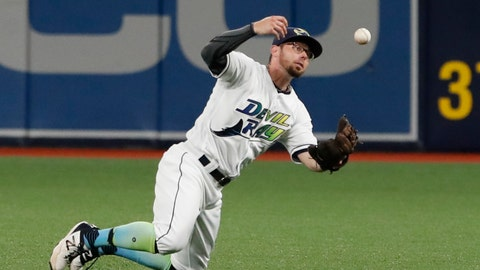 <p>               FILE - In this Aug. 30, 2019, file photo, Tampa Bay Rays second baseman Eric Sogard makes a catch during the first inning of the team's baseball game against the Cleveland Indians in St. Petersburg, Fla. Sogard is getting a second chance with the Milwaukee Brewers. Milwaukee finalized his $4.5 million, one-year contract Friday, Dec. 20, along with a $5 million, one-year deal for first baseman Justin Smoak. (AP Photo/Scott Audette, File)             </p>