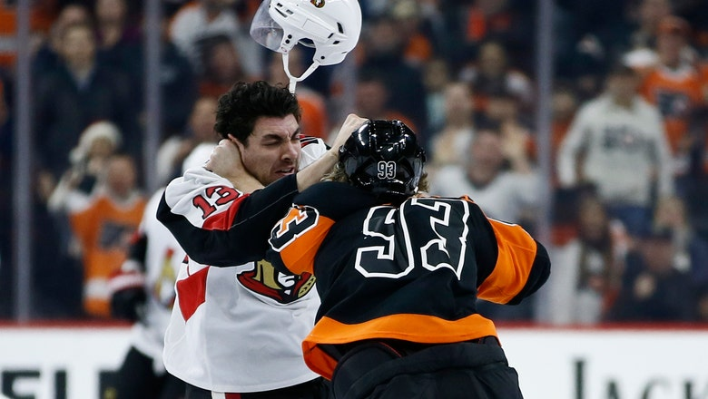 Laughton leads Flyers past Senators 4-3 in chippy game