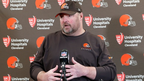 <p>               Cleveland Browns head coach Freddie Kitchens answers questions during a news conference after an NFL football game against the Pittsburgh Steelers, Sunday, Dec. 1, 2019, in Pittsburgh. (AP Photo/Don Wright)             </p>
