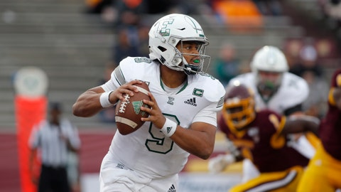 <p>               FILE - In a Saturday, Oct. 5, 2019 file photo, Eastern Michigan quarterback Mike Glass III looks to throw against Central Michigan during an NCAA football game in Mount Pleasant, Mich. Pittsburgh and Eastern Michigan will meet in the Quick Lane Bowl, on Dec. 26, 2019, hoping to end postseason droughts.  (AP Photo/Al Goldis, File)             </p>