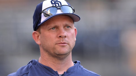 <p>               FILE - In this Aug. 23, 2019, file photo, San Diego Padres' Andy Green looks on before a baseball game against the Boston Red Sox, in San Diego. The Chicago Cubs named former San Diego Padres manager Andy Green as bench coach Monday, Dec. 9, 2019. (AP Photo/Orlando Ramirez, File)             </p>