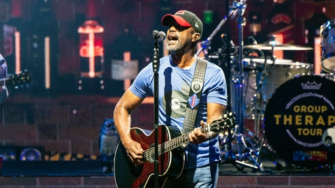 """<p>               FILE - In this July 20, 2019, file photo, Darius Rucker performs during the Group Therapy Tour at Riverbend Music Center in Cincinnati, Ohio. Rucker will perform a pre-race concert before the Daytona 500 in February.  It will be Rucker's fourth appearance at Daytona International Speedway and first at the """"Great American Race,"""" which will again serve as NASCAR's Cup Series season opener. (Photo by Amy Harris/Invision/AP, File)             </p>"""