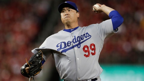 <p>               FILE - In this Oct. 6, 2019, file photo, Los Angeles Dodgers starting pitcher Hyun-Jin Ryu throws to a Washington Nationals batter during the first inning in Game 3 of a baseball National League Division Series in Washington. Free agent pitcher Ryu and the Toronto Blue Jays have agreed to an $80 million, four-year contract, according to a person familiar with the negotiations. The person spoke on condition of anonymity because the deal was pending a physical sometime after Christmas and had not been announced. (AP Photo/Julio Cortez, File)             </p>