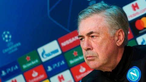 <p>               FILE - In this Monday, Dec. 9, 2019 filer, Napoli coach Carlo Ancelotti attends a press conference ahead of Tuesday's Champions League, group E soccer match against KRC Genk, in Castel Volturno, near Naples, Italy. Napoli has fired coach Carlo Ancelotti despite qualifying for the Champions League knockout stages. Napoli announced the decision shortly after beating Genk 4-0 to end a nine-match winless run in all competitions and reach the last 16 of the Champions League. Former AC Milan coach Gennaro Gattuso has been touted as his replacement. Napoli is already 17 points behind Serie A leader Inter Milan. (Cesare Abbate/ANSA via AP, File )             </p>