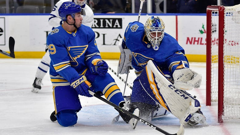 Binnington pulled in first period as Blues fall to Maple Leafs 5-2