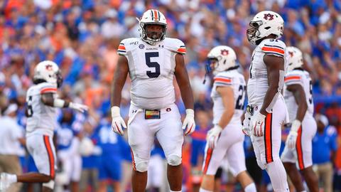 Carolina Panthers — Derrick Brown, DT, Auburn (7)