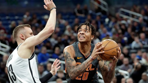 <p>               Orlando Magic guard Markelle Fultz, right, looks for a shot against Brooklyn Nets guard Dzanan Musa during the first half of an NBA basketball game, Monday, Jan. 6, 2020, in Orlando, Fla. (AP Photo/John Raoux)             </p>