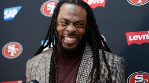 <p>               FILE - In this Oct. 20, 2019, file photo, San Francisco 49ers cornerback Richard Sherman speaks at a news conference after an NFL football game against the Washington Redskins, in Landover, Md. Veteran defensive backs and team leaders Richard Sherman of San Francisco and Malcolm Jenkins of Philadelphia are among 32 nominees for the Walter Payton NFL Man of the Year Award. (AP Photo/Alex Brandon, File)             </p>