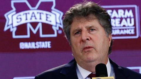 <p>               New Mississippi State NCAA college football coach Mike Leach speaks at a news conference Friday, Jan. 10, 2020, at the Starkville, Miss., based university, after being officially introduced as the head coach. (AP Photo/Rogelio V. Solis)             </p>