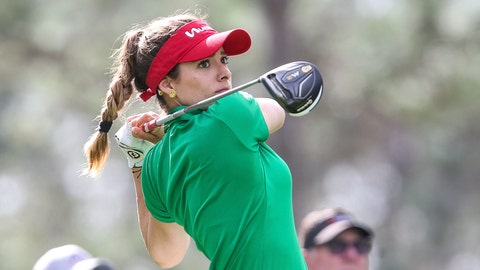 <p>               Gaby Lopez, of Mexico, drives from the 2nd tee during during the final round of the Tournament of Champions LPGA golf tournament Sunday, Jan. 19, 2020, in Lake Buena Vista, Fla. (AP Photo/Gary McCullough)             </p>
