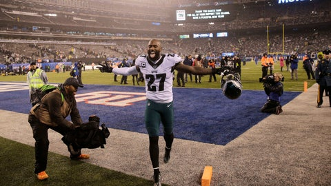 <p>               Philadelphia Eagles strong safety Malcolm Jenkins (27) celebrates beating the New York Giants after NFL football game, Sunday, Dec. 29, 2019, in East Rutherford, N.J. (AP Photo/Seth Wenig)             </p>