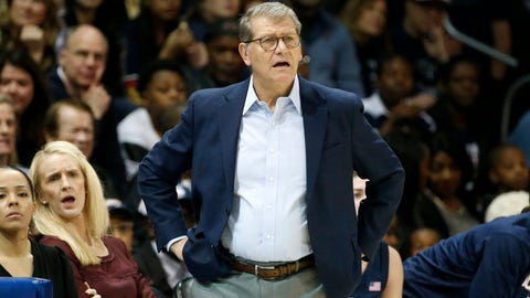 <p>               Connecticut head coach Geno Auriemma watches the first half of an NCAA college basketball game against SMU in University Park, Texas, Sunday, Jan. 5, 2020. (AP Photo/Michael Ainsworth)             </p>