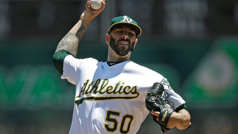 <p>               FILE - In this July 28, 2019, file photo, Oakland Athletics pitcher Mike Fiers works against the Texas Rangers in the first inning of a baseball game, in Oakland, Calif. When future generations are documenting baseball history, Mike Fiers will surely be remembered as one of the game's most significant figures. Not necessarily for what he did on the field, though tossing a pair of no-hitters is certainly a worthy achievement.(AP Photo/Ben Margot, File)             </p>