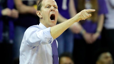 <p>               Washington head coach Mike Hopkins calls to his team during the first half of an NCAA college basketball game against the Oregon State, Thursday, Jan. 16, 2020, in Seattle. (AP Photo/Ted S. Warren)             </p>