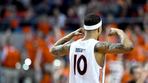 <p>               Auburn guard Samir Doughty celebrates a foul call against Vanderbilt during the first half of an NCAA college basketball game Wednesday, Jan. 8, 2020, in Auburn, Ala. (AP Photo/Julie Bennett)             </p>