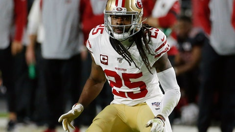 <p>               FILE - In this Oct. 31, 2019, file photo, San Francisco 49ers cornerback Richard Sherman (25) plays during the first half of an NFL football game against the Arizona Cardinals, in Glendale, Ariz. Two of the best at their jobs will meet once again in the NFC championship game when Green Bay quarterback Aaron Rodgers must decide how much to challenge San Francisco cornerback Richard Sherman. (AP Photo/Rick Scuteri, File)             </p>
