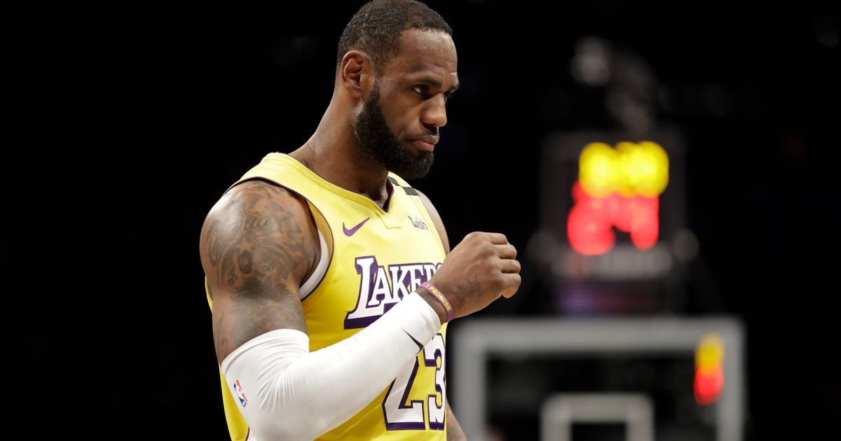 James records 10th triple-double, Lakers beat Nets 128-113 | FOX Sports