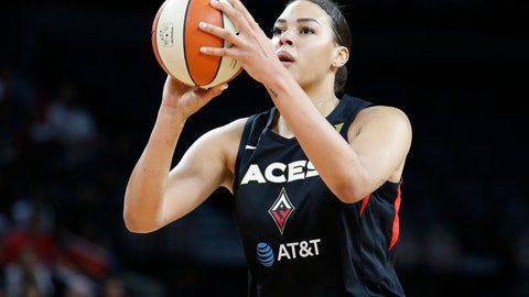 <p>               FILE - In this Sept. 24, 2019, file photo, Las Vegas Aces' Liz Cambage (8) plays against the Washington Mystics during the first half of Game 4 of a WNBA playoff basketball series in Las Vegas. Cambage started a GoFundMe page to raise money to help after fires that have devastated her native Australia. The money raised will be divided and distributed equally between many groups, including the Australian Red Cross Disaster Recovery and Relief and World Wildlife Foundation Australia. (AP Photo/John Locher, File)             </p>