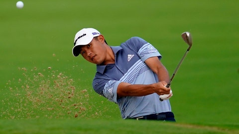 <p>               Collin Morikawa chips onto the 10th green during the first round of the Sony Open PGA Tour golf event, Thursday, Jan. 9, 2020, at Waialae Country Club in Honolulu. (AP Photo/Matt York)             </p>