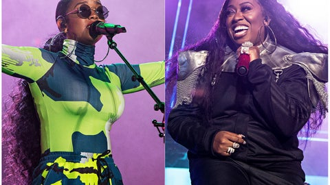 <p>               This combination photo shows H.E.R. performing at the 2019 Essence Festival in New Orleans on July 6, 2019, left, and Missy Elliott performing at the 2019 Essence Festival on July 5, 2019. The pair will appear in a new Pepsi commercial that will debut for the Super Bowl. (Photo by Amy Harris/Invision/AP)             </p>