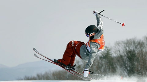 """<p>               FILE - In this Feb. 18, 2018, file photo, GusKenworthy, of the United States, jumps during the men's slopestyle final at the 2018 Winter Olympics in Pyeongchang, South Korea. These days, freestyle skier Gus Kenworthy is one tough act to follow. His talents have him starring in a variety of roles both on and off the slopes. He's an actor (recently appearing in """"American Horror Story: 1984""""), gay-rights advocate (he came out in 2015) and friend to animals (rescuing stray dogs). Of course, he's also an innovative slopestyle/halfpipe competitor who recently switched countries and will now represent Britain (to honor his mom).  (AP Photo/Kin Cheung, File)             </p>"""
