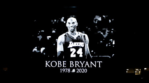 <p>               A tribute to Kobe Bryant was shown on the screen before the start of an NBA basketball game between the Orlando Magic and the Los Angeles Clippers in Orlando, Fla., Sunday, Jan. 26, 2020. (AP Photo/Reinhold Matay)             </p>