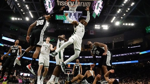 <p>               Milwaukee Bucks' Wesley Matthews shoots during the first half of an NBA basketball game against the San Antonio Spurs Saturday, Jan. 4, 2020, in Milwaukee. (AP Photo/Morry Gash)             </p>