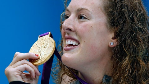<p>               FILE - In this July 31, 2012, file photo, United States' Allison Schmitt holds her gold medal after winning the women's 200-meter freestyle swimming final at the Aquatics Centre in the Olympic Park during the 2012 Summer Olympics in London. Schmitt is a graduate student at Arizona State and worked an internship last year counseling students. She's taking a break from her studies this year while attempting to qualify for a fourth Olympics appearance. Schmitt, who turns 30 on June 7, didn't initially plan on trying for one more Olympic bid. (AP Photo/Daniel Ochoa De Olza, File)             </p>