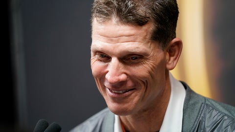 <p>               Clemson associated head coach Brent Vemables speaks during media day for NCAA College Football Playoff national championship game Saturday, Jan. 11, 2020, in New Orleans. Clemson is scheduled to play LSU on Monday. (AP Photo/David J. Phillip).             </p>