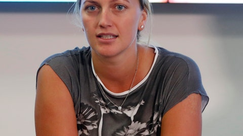 <p>               FILE - In this Friday, Dec. 23, 2016 file photo, Czech Republic's Petra Kvitova gives a statement to the media in Prague, Czech Republic. The two-time Wimbledon champion was injured Tuesday Dec. 20, 2016 when a knife-wielding intruder attacked her at her home in the town of Prostejov. On Monday Jan. 8, 2020, an appeals court in the Czech Republic upheld a lower court conviction of a man of knifing Kvitova in her home and increased his sentence from eight to 11 years in prison. (AP Photo/Petr David Josek, File)             </p>